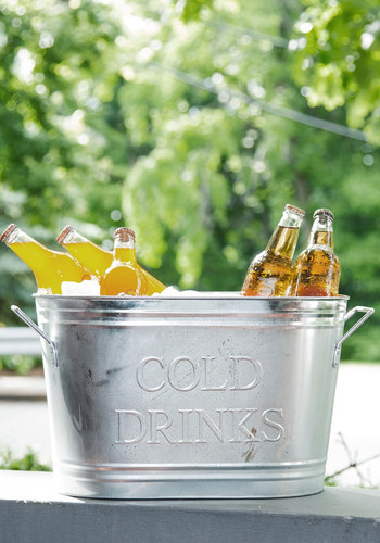 Real Chill Party Drink Container - Silver, Rustic, Good, Party, Daytime Party, Summer, Hostess