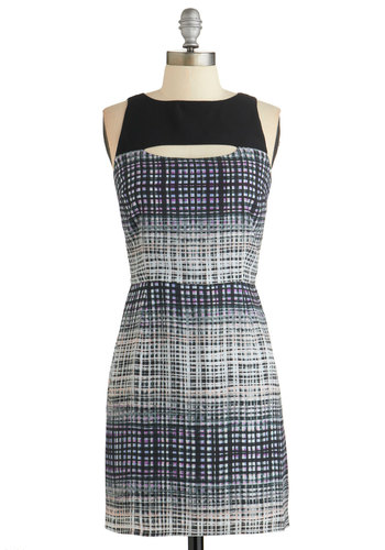 Head of the Classy Dress by Jack by BB Dakota - Multi, Print, Cutout, Party, Sleeveless, Woven, Good, Sheath, Mid-length