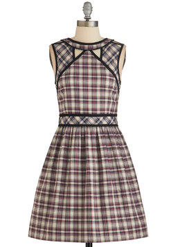 Well I'll Be Darling Dress in Plaid