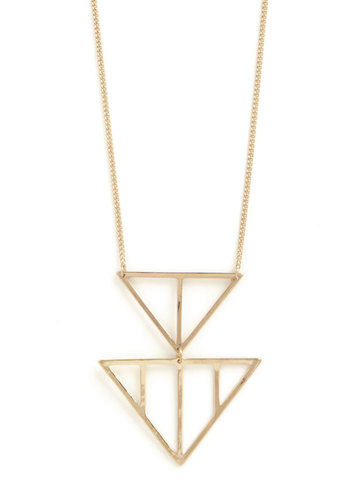 In Good Shape Necklace - Solid, Chain, Party, Casual, Boho, Urban, Darling, Gold, Minimal