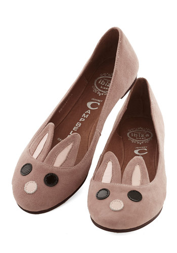 On Hop of the World Flat by Jeffrey Campbell - Flat, Leather, Suede, Pink, Print with Animals, Casual, Quirky, Critters