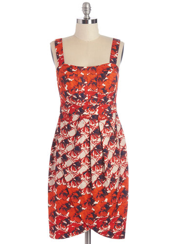 Poppy in the Name of Love Dress - Floral, Daytime Party, Shift, Sleeveless, Summer, Woven, Better, Cotton, Multi, Graduation, Valentine's