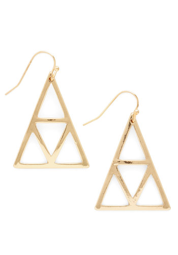 Craft Talk Earrings - Solid, Party, Casual, Cocktail, Girls Night Out, Boho, Statement, Urban, Gold, Minimal, Fall
