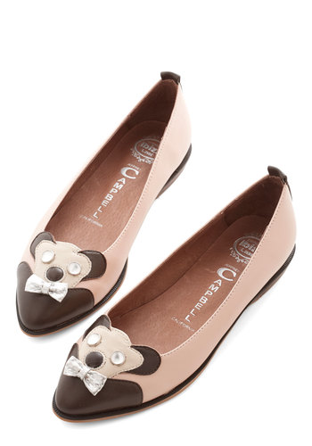 Pure Panda-monium Flat by Jeffrey Campbell - Leather, Pink, Print with Animals, Bows, Party, Quirky, Critters, Best
