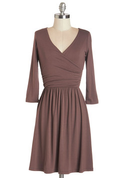 Everywhere You Flow Dress in Mocha