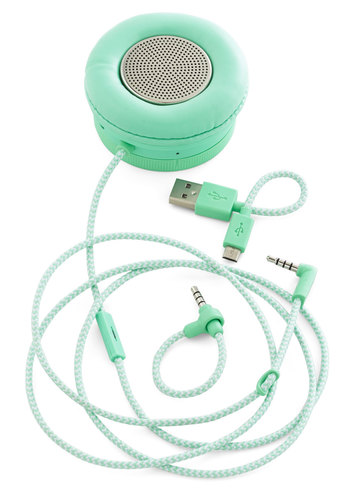 Thoroughly Modern Musician Monocle Speaker in Mint - Mint, Urban, Minimal, Better, Solid