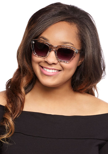 Sweet and Speckled Sunglasses - Black, White, Print, Good
