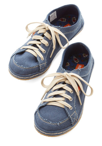 Kicking Around Sneaker - Denim, Woven, Blue, Solid, Casual, Menswear Inspired, Urban, Better, Lace Up