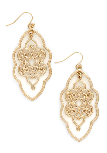 Filigree of Flair Earrings - Solid, Party, Cocktail, Girls Night Out, Boho, Urban, Festival, Gold