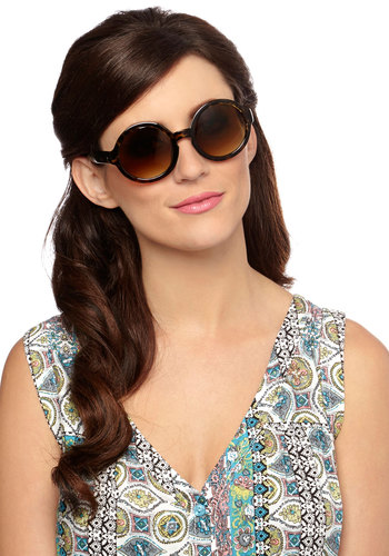 Put On a Show Sunglasses - Animal Print, Good, Brown, Summer
