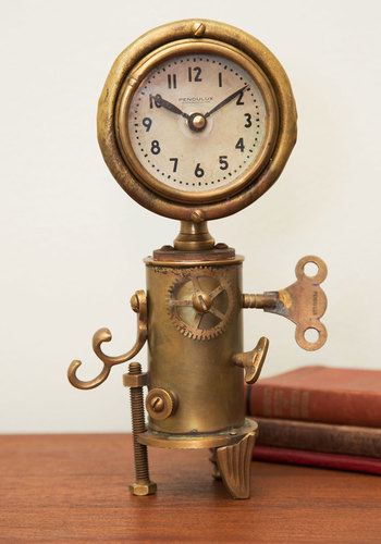Antique Your Interest Clock - Gold, Steampunk, Best, Guys