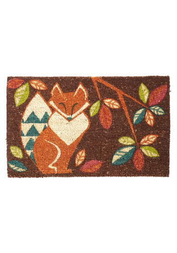 Please Wipe Your Paws Doormat - Multi, Critters, Better, Print with Animals, Rustic, Woodland Creature