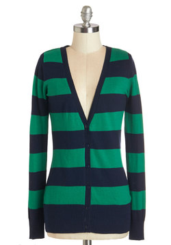 Delicious Date Cardigan in Navy and Green