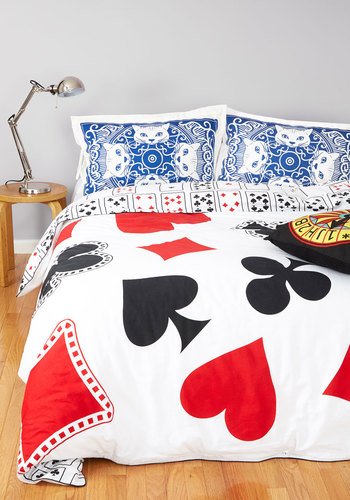 A Royal Plush Duvet Cover in Twin/Twin XL - Cotton, Woven, Quirky, Best, White, Red, Black, Novelty Print, Variation