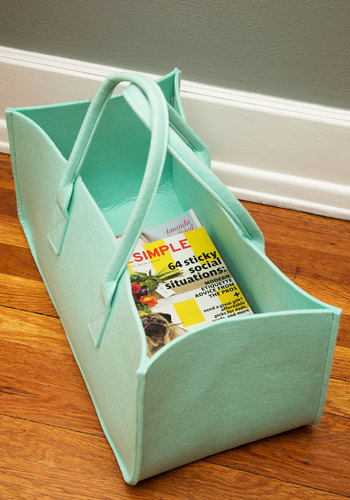 Cache and Carry Storage Tote - Mint, Dorm Decor, Minimal, Good, Solid, Travel, Hostess, Gals