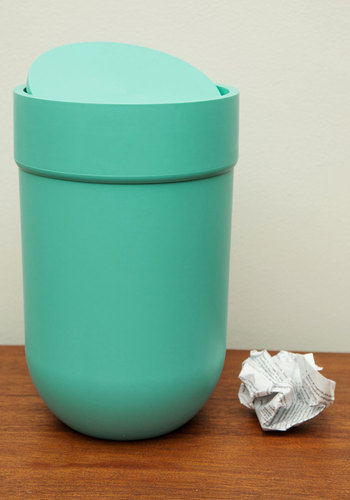 Touch and Throw Trash Can - Blue, Blue, Minimal, Good, Solid, Dorm Decor, Graduation, Under $20, Pastel