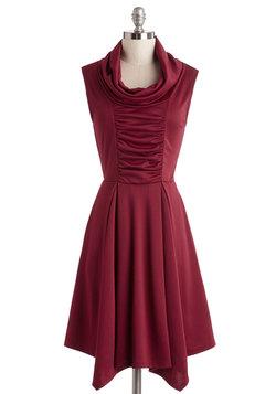 Storytelling Showstopper Dress in Burgundy