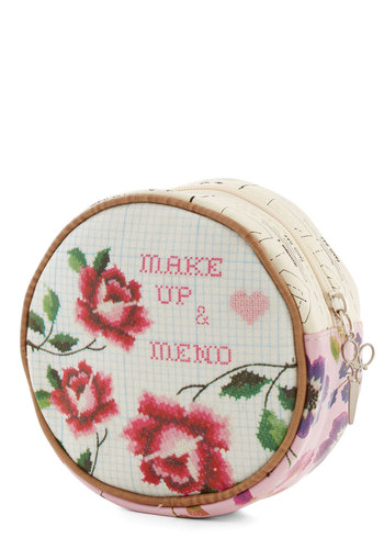 And Sew On Makeup Bag by Disaster Designs - Multi, Novelty Print, Travel