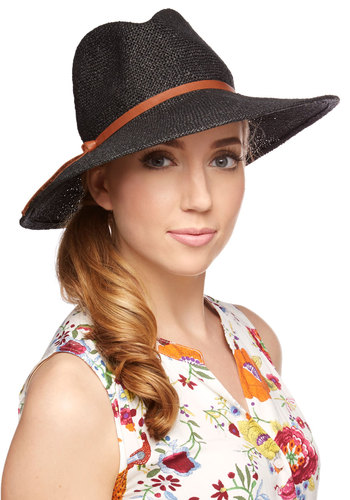 Safari Finesse Hat in Black - Black, Solid, Casual, Boho, Menswear Inspired, Brown, Festival, Variation