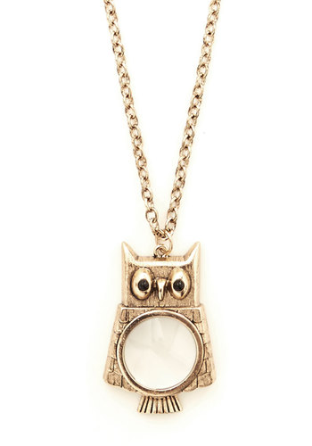 Owl Do You Do That? Necklace - Solid, Owls, Nifty Nerd, Gold, Exclusives, Critters, Woodland Creature