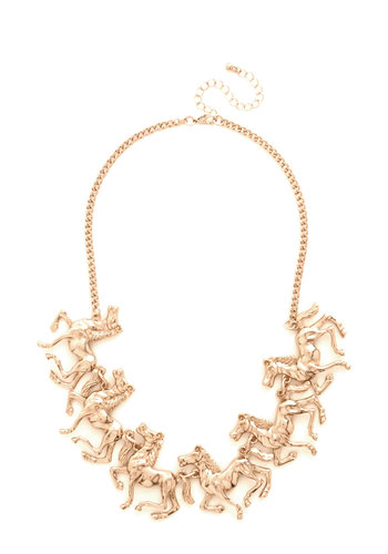 Friend or Foal Necklace - Solid, Darling, Critters, Gold, Exclusives, Gals, Halloween, Holiday Party