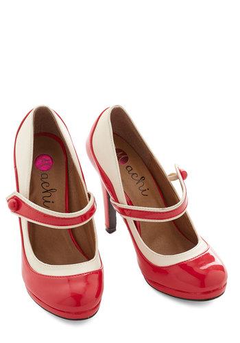 'S Marvelous Heel in Scarlet