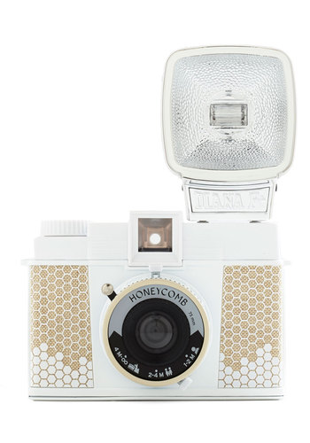 Diana F+ Camera in Honeycomb - Multi, Best, Novelty Print, Travel, Variation