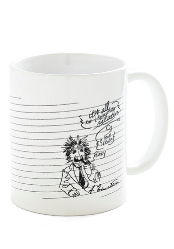 Bloke of Genius Mug - White, Black, Novelty Print, Scholastic/Collegiate, Nifty Nerd