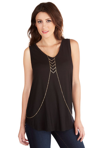 Pointed Question Body Chain - Solid, Chain, Casual, Boho, Statement, Urban, Festival, Gold, Fall