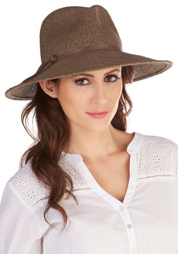 Safari Finesse Hat in Brown - Brown, Solid, Beach/Resort, Boho, Menswear Inspired, Festival, Safari, Variation