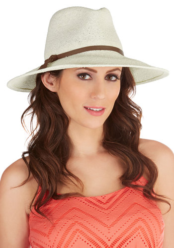 Safari Finesse Hat in Cream - Solid, Casual, Beach/Resort, Boho, Menswear Inspired, Cream, Safari, Variation, Festival