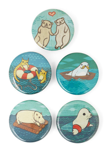 Which One of These Things? Button Set - Multi, Nautical, Critters, Good, Print with Animals