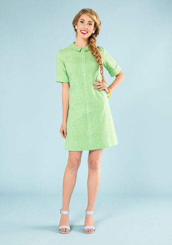 Vintage Lime Judge Dress
