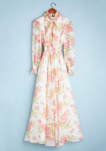 Vintage Efflorescence of a Woman Dress