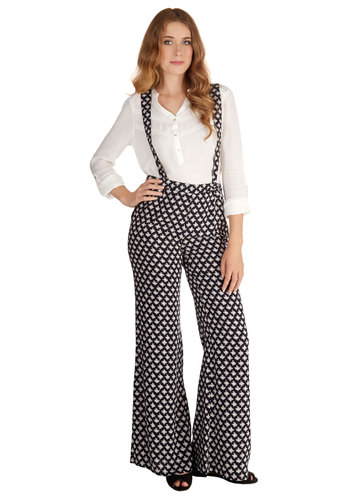 Skate of the Art Pants - Woven, Black, White, Print, Work, Wide Leg, High Waist