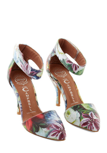 Jeffrey Campbell Thrive Got Work to Do Heel by Jeffrey Campbell - High, Leather, Multi, Floral, Prom, Wedding, Party, Daytime Party, Fairytale, Spring, Summer, Best