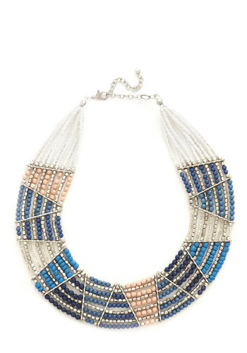 Striking Bold Necklace - Multi, Beads, Statement, Fall