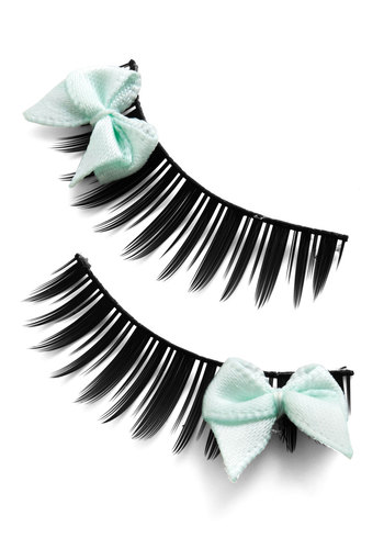 Look at Bows Eyes Lashes in Mint - Mint, Girls Night Out, Rockabilly, Bows, Halloween