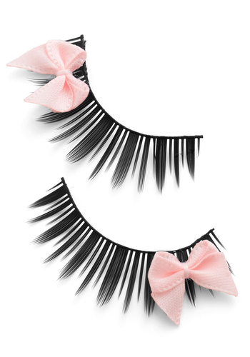 Look at Bows Eyes Lashes in Pink - Pink, Girls Night Out, Rockabilly, Bows, Halloween
