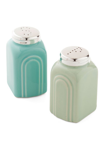 Pastel Me the Recipe Shaker Set by One Hundred 80 Degrees - Green, 50s, Good, Blue, Vintage Inspired, Pastel, Mid-Century, Hostess