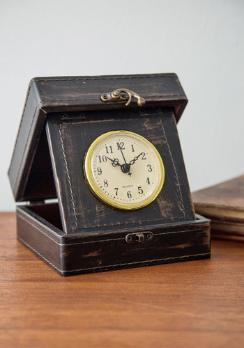 The Time Traveler of My Life Clock - Faux Leather, Multi, Vintage Inspired, Steampunk, Good, Nautical, Guys, Travel, Under $20