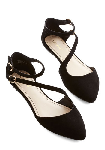 A Day in Your Shoes Flat in Noir - Flat, Black, Solid, Wedding, Party, Good, Strappy, Variation