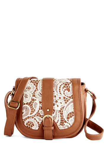 Hello, Good Buyer Bag - Tan, White, Solid, Buckles, Lace, Festival, Good, Faux Leather, Spring, Boho