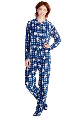 Kitty Committee One-Piece Pajamas