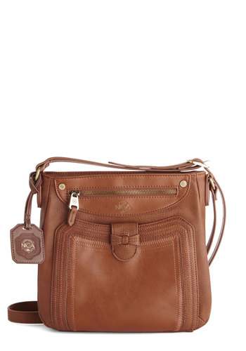 Scenic Lookout Bag by Nica - Brown, Solid, Rustic, Faux Leather