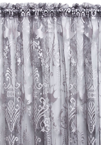 Fit for a Duchess Curtain - Sheer, Lace, Grey, French / Victorian, Better, Bird, Woodland Creature, Wedding