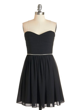 Swift and Shirr Dress in Black