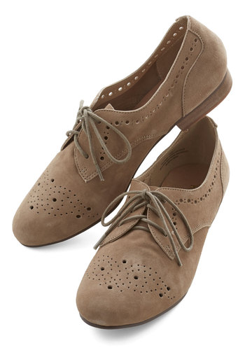 Train Station Homecoming Flat by Restricted - Low, Leather, Suede, Tan, Solid, Cutout, Work, Menswear Inspired, Vintage Inspired, 20s, Better, Lace Up