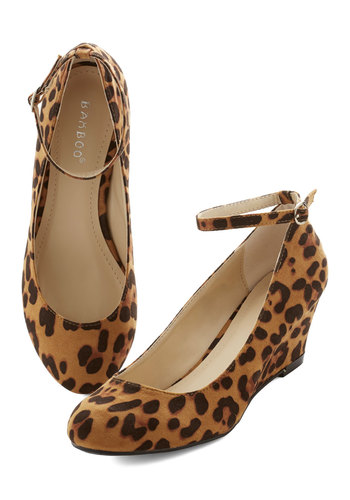 City Savvy Wedge in Leopard - Low, Tan, Brown, Animal Print, Statement, Urban, Wedge, Variation, Party, Girls Night Out