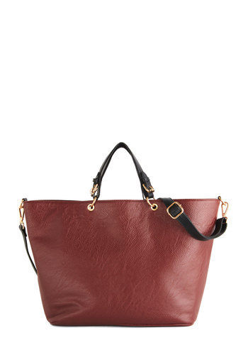 Soho Chic Bag - Solid, Buckles, Chain, Casual, Urban, Faux Leather, Brown, Work, Travel, Fall, Winter